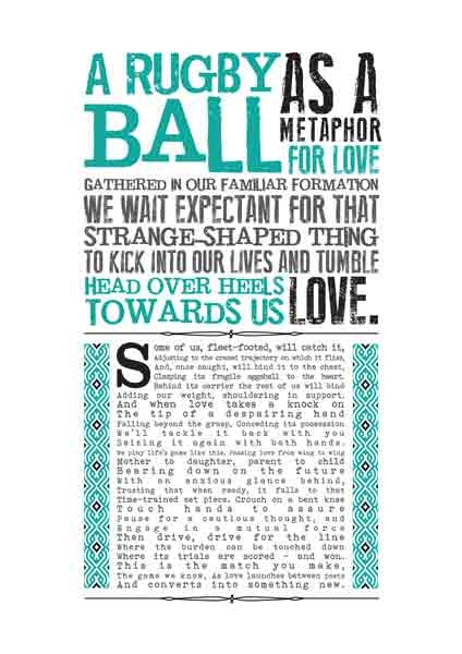 life poster letterpress